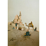 Raffaelle Mainella , Chromo Lithograph,Holy Lands c.1865-1895