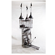 Hobart Ray Brown, (American, 1934 –2007) Kinetic sculpture,  Hamster cage in the form of cas