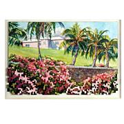Douglas Fenn Wilson Watercolor Assemblage Painting