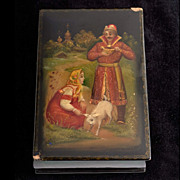 Vintage Soviet Era  Russian Lacquer Box