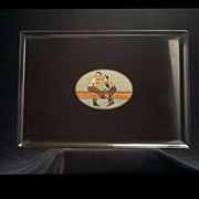 Vintage Couroc of Monterey Tray
