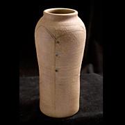 20th Century Studio Earthen Vase, signed  DeVries