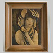 "Marie Laurencin Vintage Print, Juene Fille "" PIVOINE"""