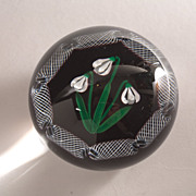 """SOLD Selkirk Glass """"Snowdrop"""" Limited Ed. Paperweight c. 1983"""