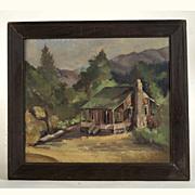 Nellie Church Beale  (1880 - 1937)  Plein Air Oil Painting