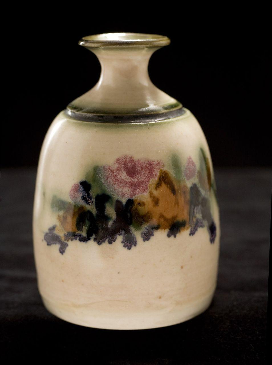 """Vintage 1980's """"Clouds Folsom"""" Ceramic Vase"""