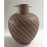 Larry Richmond Southwestern Desert Lidded Vase