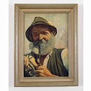 Tyrolian School  Oil Portrait