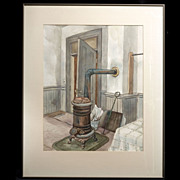 Mid-Century Watercolor  by Kay Works (1904-1998)