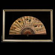 Exceptional c.1905-1925  Spanish Bullfight Fan