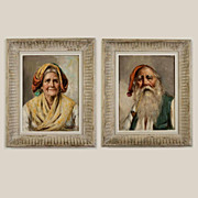 Pair of Vintage 1940's Painting by Enrico Frattini