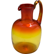 Mid-Century Blenko Amberina Art Glass Pitcher