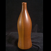 Vintage Turned Redwood Bottle Sculpture