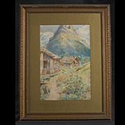 Watercolor by Herbert J. Day (1875-1950), circa 1897