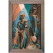 Bay Area Expressionist Painting by Marina Timoshenko Goodier (1906-1994)