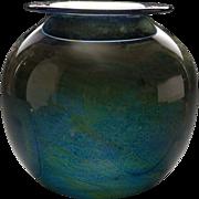 Vintage Donald Carlson Art Glass Vase, circa 1971