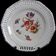 Vintage Schumann Arzberg Bavaria Reticulated Floral Trinket Dish