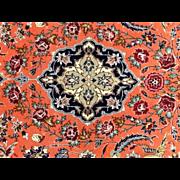 "SOLD Persian TABRIZ Oriental Rug wool & silk 3'7""x5'7"""