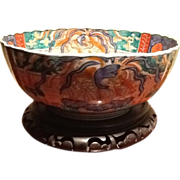 "SOLD Beautiful Imari Large Chinese Bowl 11"" x 5"", antique"