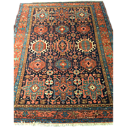 """SALE Antique Persian HERIZ Oriental Rug Hand Made 5'3"""" X 6'6"""" Square Look WOW! Free"""