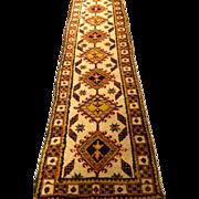 "SALE SERAB Persian Oriental Runner,  2'4"" x 10'8"", unusually narrow, cream field wit"