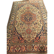 "SALE Beautiful Persian MORTASHAN KASHAN Oriental Rug, ca. 1880 4'5"" x 7' beautiful colors"