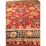 "SALE Rare DONEGAL, Handmade Rug made in Republic of Ireland, ca.1890 13'6"" X 16'6"" ,"