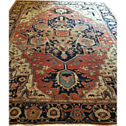 "SALE Reduced! Fabulous ca.1880 Antique N.W. Persian Bakshayesh- SERAPI  ORIENTAL RUG 9'7"""