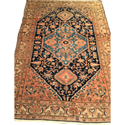 SALE ca. 1900 Persian Malayer Oriental Rug with beautiful detailed design, and Medallion ...