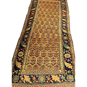"SALE Antique Camel Color Persian BIJAR Oriental Rug in hard to find size  3'3"" x 7'6"""