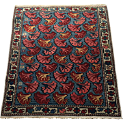 SALE Lovely Unusual Shirvan Caucasian Oriental Rug, ca. 1890, hand knotted in pure wool using
