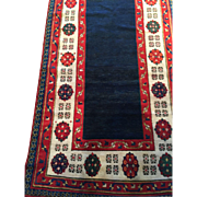 "Fabulous antique, ca. 1890, TALISH Persian open field Oriental Rug, 3'6"" x 8' hand knotted  Perfect condition, Free insurance appraisal-Free shipping $4800"