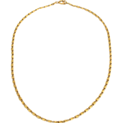 Vintage French 18K Yellow Gold Chain Necklace Art Deco