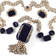 Miriam Haskell Pendant Necklace Earring Demi Parure Set