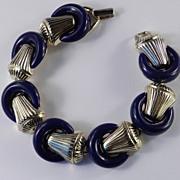 Trifari Mayan Lucite Ring Link Bracelet