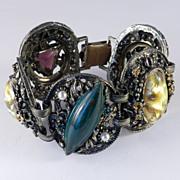 Selro Selini Art Glass Rhinestone Bracelet