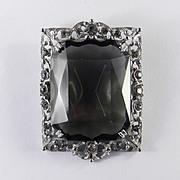 Sarah Coventry Celebrity Rhinestone Art Glass Brooch Pin Pendant