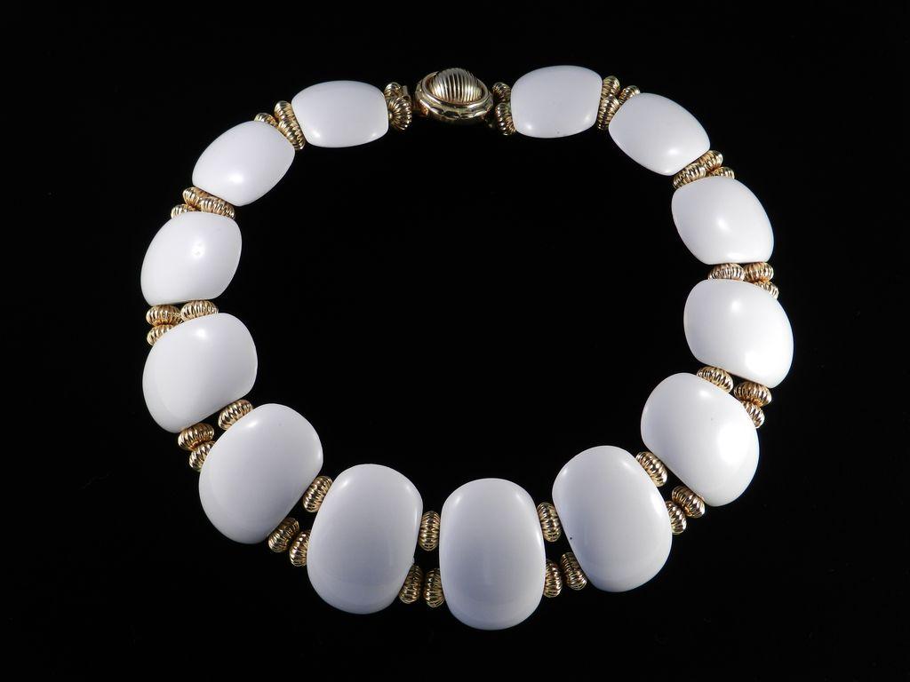 William deLillo Lucite Disk Collar Necklace