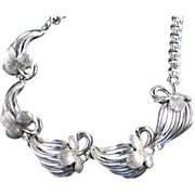 Elsa Schiaparelli Berry & Leaf Link Necklace