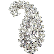 Vogue Large Layered Rhinestone Brooch Pin