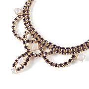 Rhinestone Faux Opal Swag Festoon Garland Necklace