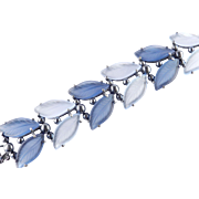 Elsa Schiaparelli Molded Glass Leaves Bracelet Pristine