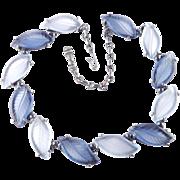 Elsa Schiaparelli Molded Glass Leaves Necklace Pristine