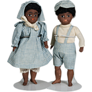 SALE Incredible Kestner All Bique Boy & Girl Matched Pair - 6.5 Inch
