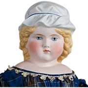Unusual ABG Lady  with Molded Hat 21 Inches