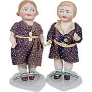 SALE Adorable All Bisque Googly Pair - 5 Inch