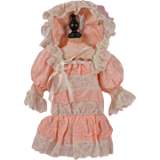 SALE Pretty Pink Dress and Hat fits 21-22 Inch Bebe