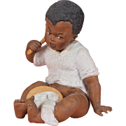 SALE Heubach Black Boy Eating Porridge Figurine - 5.25 Inches Tall
