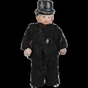 SALE Tiny All Bisque Gentleman with Top Hat
