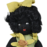 Italian Felt Black Child - 9.5 Inch